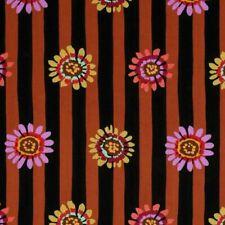 """16"""" Remnant Kaffe Fassett Regency Daisy Stripe Fabric PWGP146 Brown"""