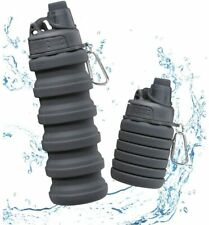 BPA Free Collapsible Silicone Sports Water Bottle Cup Foldable & Portable