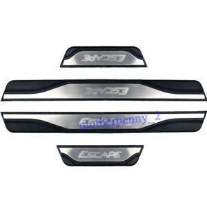For Ford Escape Accessories Door Sill Protector Scuff Plate Guard 2014 2021 4pcs
