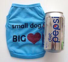 Chihuahua (XSmall size) Dog Clothes Blue Small Dog Big Love T Shirt Clothing