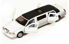 Kinsmart 1999 Lincoln Town Car Stretch Limousine Limo 1:38 Diecast White License