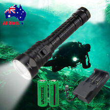 40000LM 4xXML T6 LED Diving Scuba Flashlight Waterproof Torch Rechargeable 26650