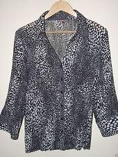 Katies 3/4 Sleeve Button Down Shirt Regular Women's Tops & Blouses
