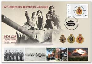2021 Canada 🍁 12e Régiment blindé du Canada; 150th 🍁 Special Event Cover 🍁