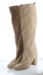 63-32 MSRP $200 Women's Sz 11 Sam Edelman Hai Suede Knee High Boots - Beige