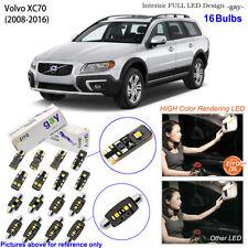 16 Bulb Deluxe LED Interior Light Kit 6000K Xenon White For 2008-2016 Volvo XC70