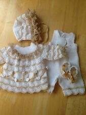 "Dress Outfit for a 14"" Antique Baby Doll antique lace"