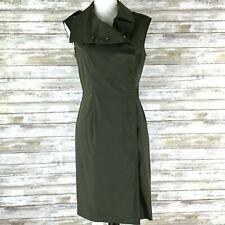 Saks Fifth Avenue Womens  Wrap Dress Size 6 Military Green