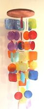 Capiz Shell Windchime Rainbow 70cm Medium / Large Windchime