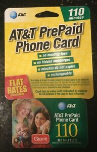 AT&T PrePaid Phone Calling Cards 164 combined available minutes via two cards