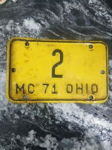 1971 Motorcycle Ohio License Plate