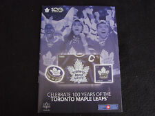 Stamp Catalog ~ Details Canada Post ~ 100 Years of Toronto Maple Leafs NHL Coins