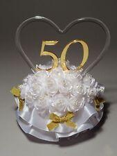 50th Wedding Anniversary Cake Topper (865-50)