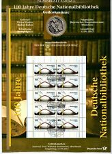 10 € Sammlermünze 2012 + Briefmarken, 100 Jahre Deutsche Nationalbibliothek