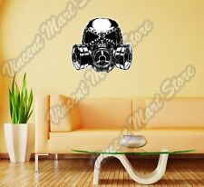 "Gas Mask Sketch Biohazard Poison Toxic Wall Sticker Room Interior Decor 22""X22"""