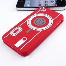 Cover Silicone Camera Red for IPHONE 4S/4