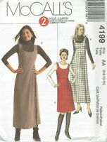 McCall's 4199 Misses'/Miss Petite Jumpers   Sewing Pattern