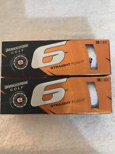Bridgestone Golf e6 Straight Flight Series White Golf Balls - 6 Balls