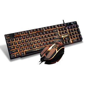 Tastiera e mouse gtx300 retroilluminata game ufficio work USB