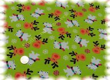 Snow Bear Sweat Jersey hellgrün Hilco 50 cm Wintersweat Kinderstoff Bären Elche