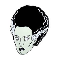 NEW, The Bride of Frankenstein, Enamel/ Copper Pin 30 mm X 30 mm