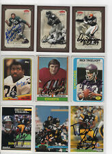 OZZIE NEWSOME SIGNED 2004 FLEER GREATS OF THE GAME CARD BROWNS AUTOGRAPH