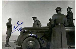 Sperrle, Eigenh. Unterschrift auf Privatfoto
