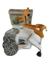 Vintage Moulinex 445 Mouli-Julienne 5 disc slicer shredder France Salad Chopper