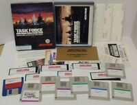 "Retro Rare Task Force 1942 MicroProse IBM PC Game 3.5"" Disks Big Box Complete"