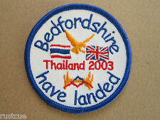 Bedfordshire Have Landed Thailand 2003 Woven Cloth Patch Badge