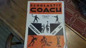 Magazine 1933 SCHOLASTIC COACH Feb. Basketball,Speedball,Tennis,Golf