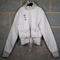 Bench Size L (14-16) Beige/Stone Hooded Bomber/Puffer Jacket