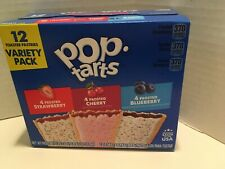 Poptarts Frosted Variety Pack Strawberry Cherry & Blueberry 12ct