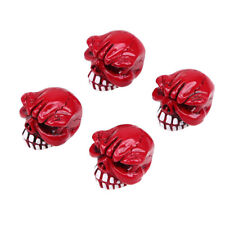 4x Head Skull Design Car Wheel Tires Air Valve Stems Dust Caps Cover For BMW VW