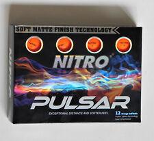 Nitro Pulsar One Dozen Brand New Orange Matte Golf Balls