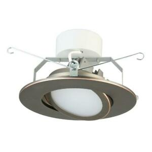 Lithonia Lighting 6 in. Oil Rubbed Bronze Recessed Gimbal LED Module 3000K
