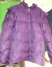 Womens KC Collections Quilted Down Coat Jacket with Hood  Sz XX Large PURPLE