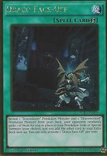 YU-GI-OH CARD: DRACO FACE-OFF - GOLD RARE - PGL3-EN090 1ST EDITION