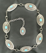 Silver/Turquoise CONCHO Link Belt ~ARIAT Western~ Southwest Western COWGIRL