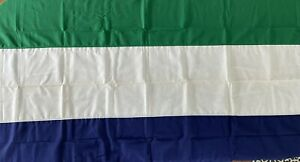 Sierra Leone Vintage Bulldog Bunting Dettra Flag 4x6 USA Educational 1950s Sewn