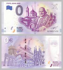0 Euro Souvenirschein Pope John XXIII