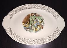 Colonial Themed Taylor Smith Taylor Platter, USA Vintage