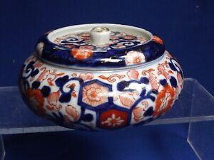 "Antique Japanese Imari Porcelain 4 3/4""Wide Round Covered Box MEIJI 19th C FINE"