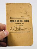 Antique Moore & Mullins Bank Linneus Missouri MO pittman advertising book