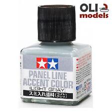 Tamiya LIGHT GRAY Panel Line Accent Color Wash 40ml Bottle - Tamiya 87189