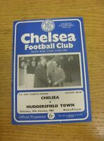 25/01/1964 Chelsea v Huddersfield Town [FA Cup] (Folded, Scores Noted On Back).
