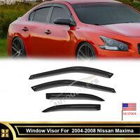 4 pcs Smoke Tint Vent Shade Window Visors For 04-08 Nissan Maxima Front + Rear