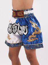Thai Boxing Shorts Kick Boxer Satin Kids Children Muay Size XXS XS S M UK 6C
