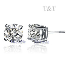 T&t 5mm Top Quality 925 Sterling Silver CZ Round Stud