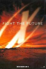 X-Files Fight the Future - original movie poster - 27x40 Red Advance